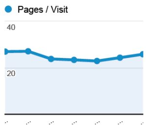 Average pet pages per visit