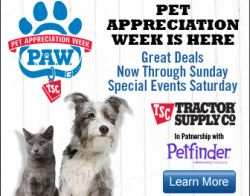 Tractor Supply PAW event