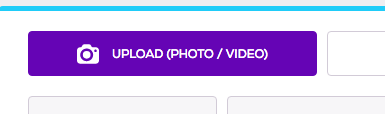 Purple button camera icon to upload photo or video