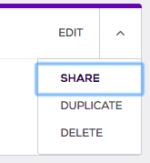 Select an event and choose duplicate from the top right corner