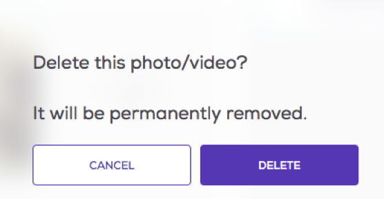 Confirm photo deletion