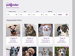 Embeddable Pet List Scroller